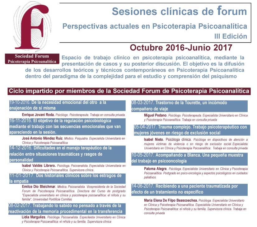 Actividades Realizadas Sociedad Forum De Psicoterapia